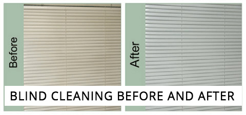 Blind Cleaning Before and After